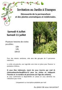 Visite du Jardin de Chalouette en herbes
